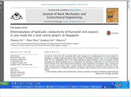 ترجمه Determination of hydraulic conductivity of fractured rock masses: A case study for a rock cave